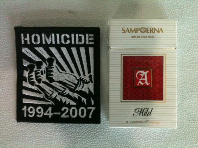 "Dijual Patch Homicide ""Godzkilla Necronometry 1994-2007"""