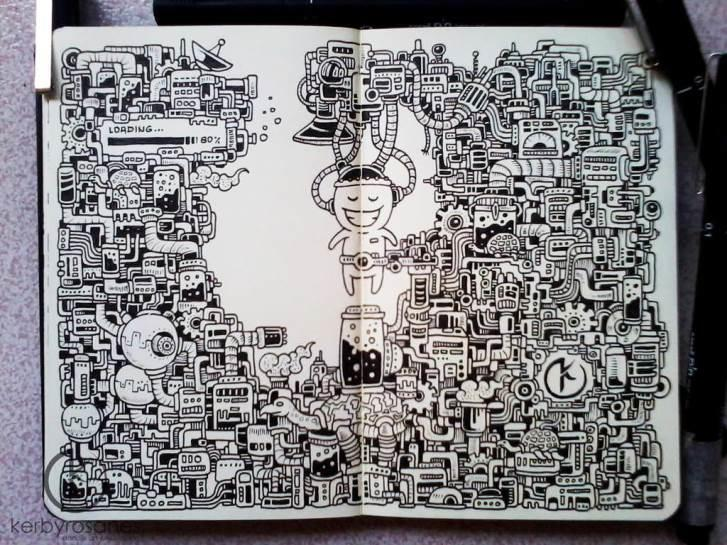 ~๑~ Mengagumkan Menggambar Sketsa dengan Menggunakan Moleskine.~๑~