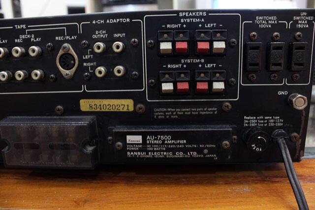 Amplifier Sansui AU-7500