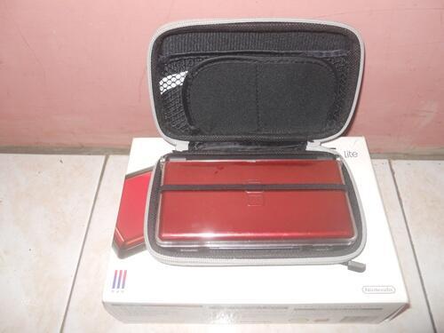 NDS Lite Red (Crimson/Black) Mint Condition