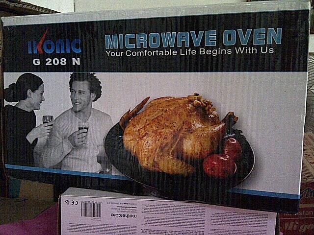 """Microwave Oven Ikonic G208N, warna Putih, Tersegel. Bisa untuk """"menggoreng telur tanp"""