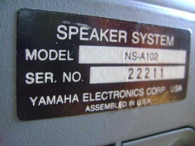 YAMAHA NS - A102 REAR IN WALL SPEAKER