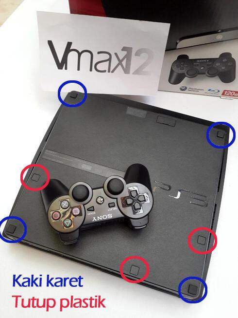 Karet kaki PS3 SLIM n FAT (Rubber Feet)