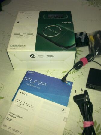 PSP slim 3006 Spirited Green second Full aksesoris 8Gb