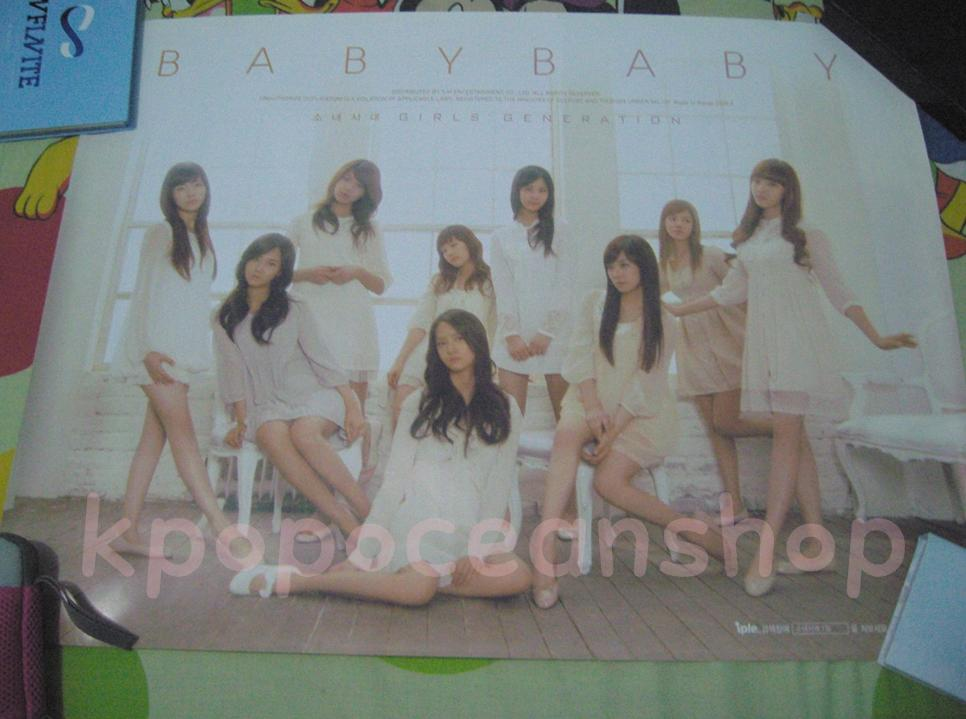 [WTS/WTT RARE] Poster SNSD 1st Repackage Album - Baby Baby