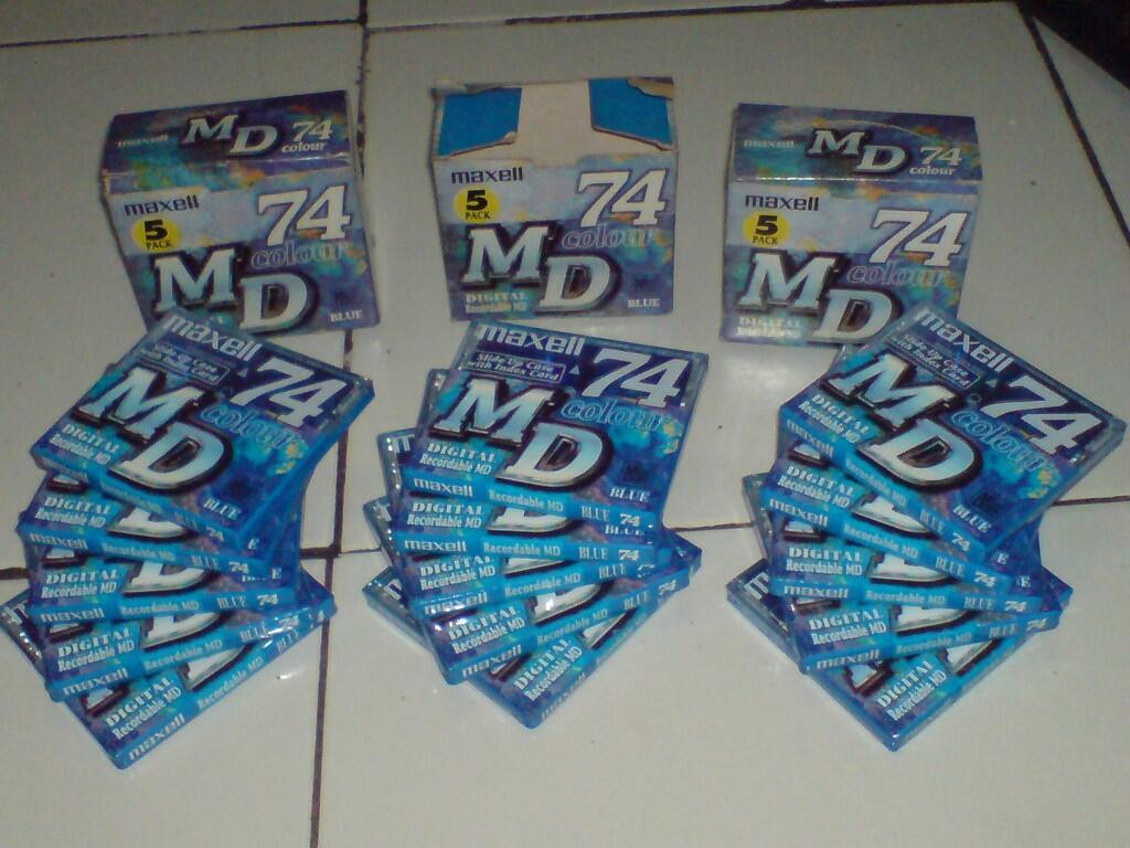 MAXELL Mini Disc - MD (Digital Recordable) New ada 15 pc murah