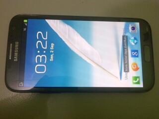 Samsung Galaxy Notes2 Titanium Grey masih garansi 8 bulan