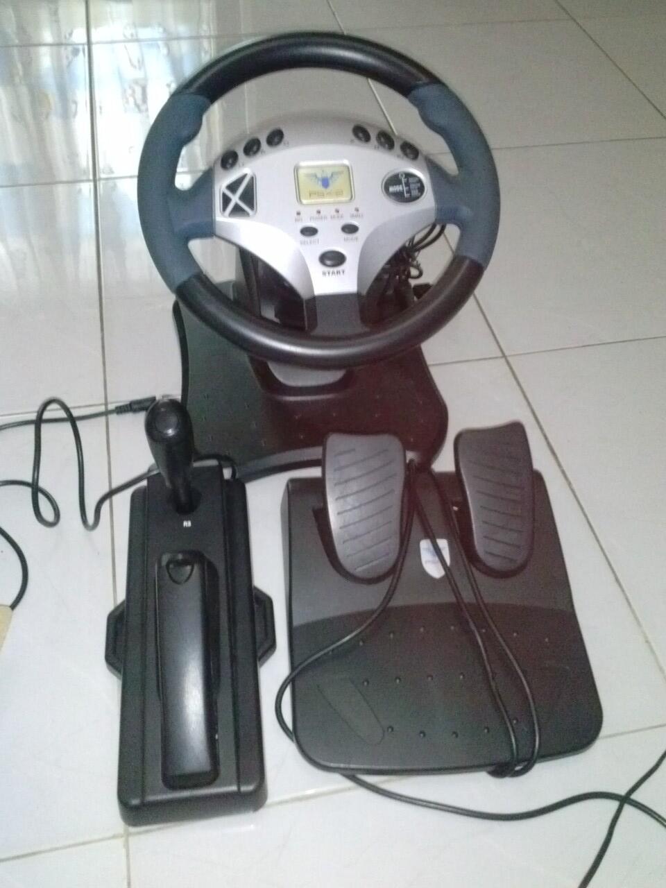Konsol setiran mobil gaming P&D trans wheel kompatibel untuk Playstation 2