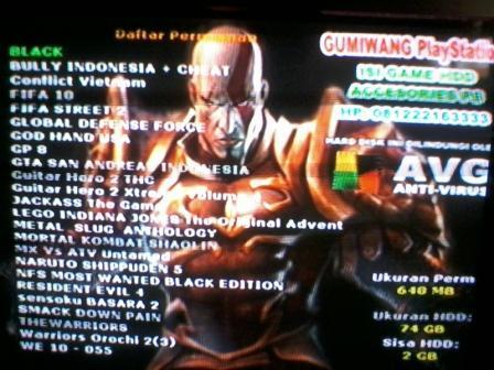 Jual PS2 Fat HDD 80GB NA Eks Rental Masuk Gan