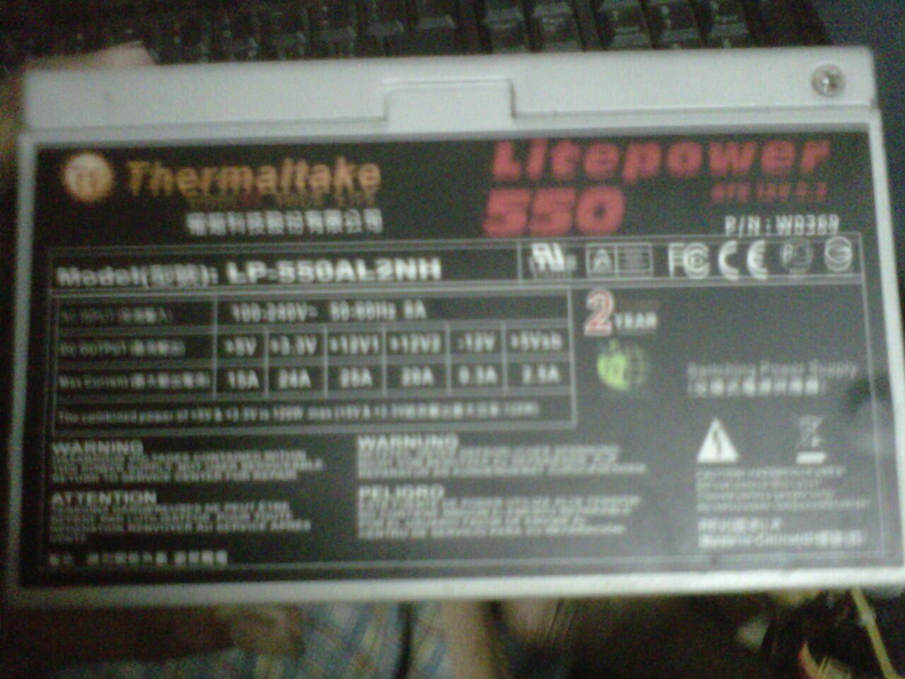 THERMALTAKE LITEPOWER 550WATT LIKE NEWW