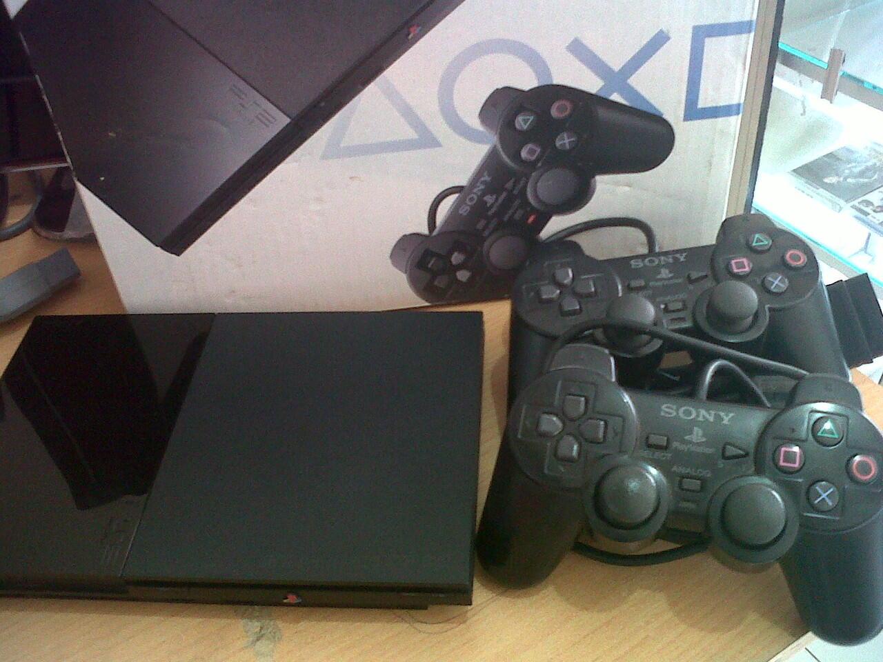 PS2 SLiM 9006 + 2 Stik Getar + LKP. METRO BANDUNG.
