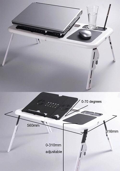Meja Laptop + 2 Cooling pad
