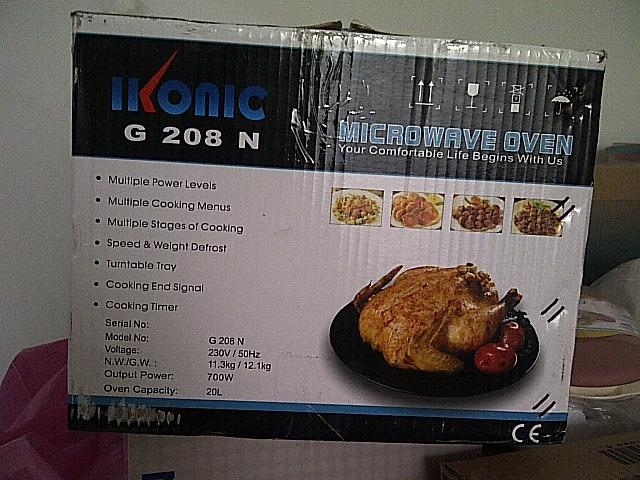 Microwave Oven Ikonic G208N, 081511931982, warna Putih Tersegel