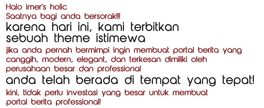 [Limited Offer] Web Berita Profesional Seperti D*t*k.com!!