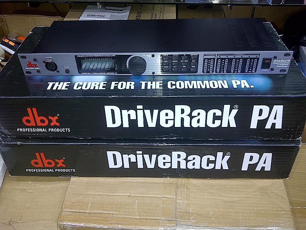 DLMS DBX Loud speaker Management, driverack Dbx PA