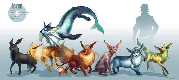 Sebagian Ilustrasi Realistis Pokemon Sebagai Monster Prasejarah [PIC]