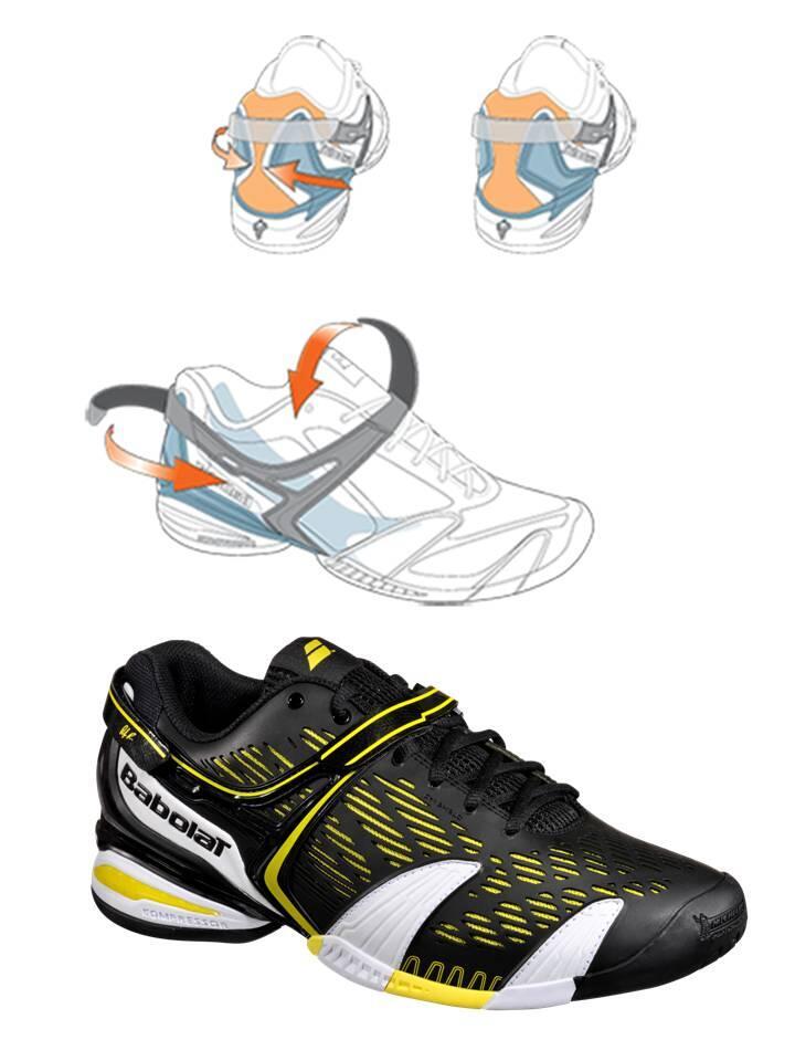 SePaTu Tenis BaboLaT PROPULSE 4 LIMITED EdiTioN w/ AnDy RODDICK bLaCk YeLLoW ORIGINAL