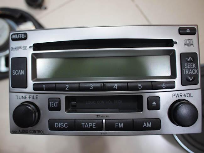 jual tape copotan Toyota Rush Type S lengkap dengan 4 spiker dan 2 twiter asli bawaan