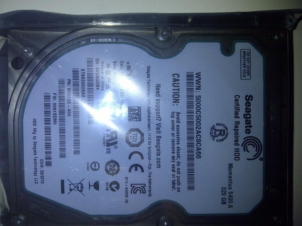 """.:: Hardisk SATA 2.5"""" 320GB (Untuk Laptop), Baru dan Murah ::."""