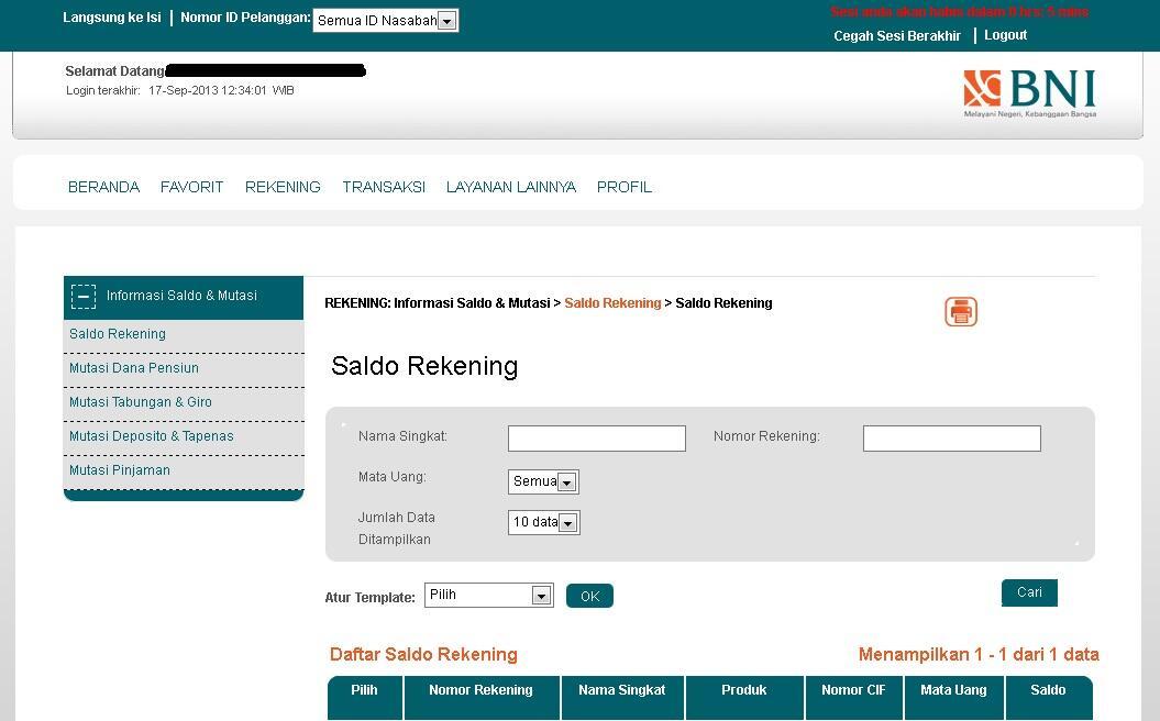 BNI INTERNET BANKING UBAH TAMPILAN !!?   KASKUS