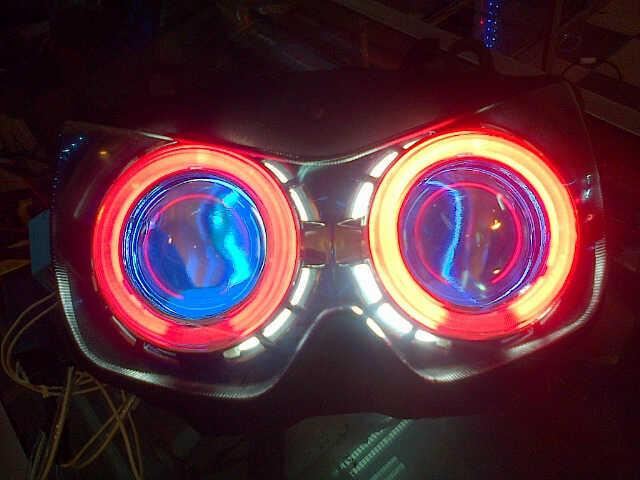 HEADLAMP / REFLEKTOR / BATOK LAMPU NINJA 250 KARBU