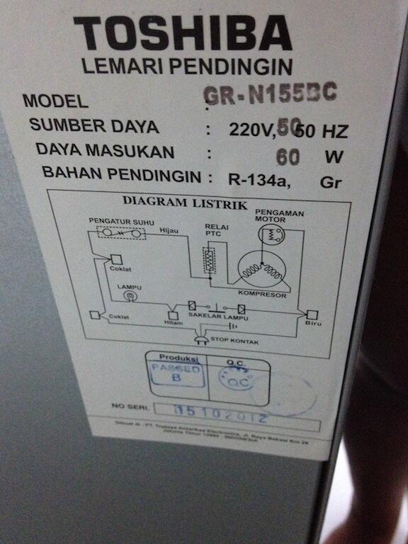 Terjual Jual Kulkas 1 Pintu Toshiba Gr