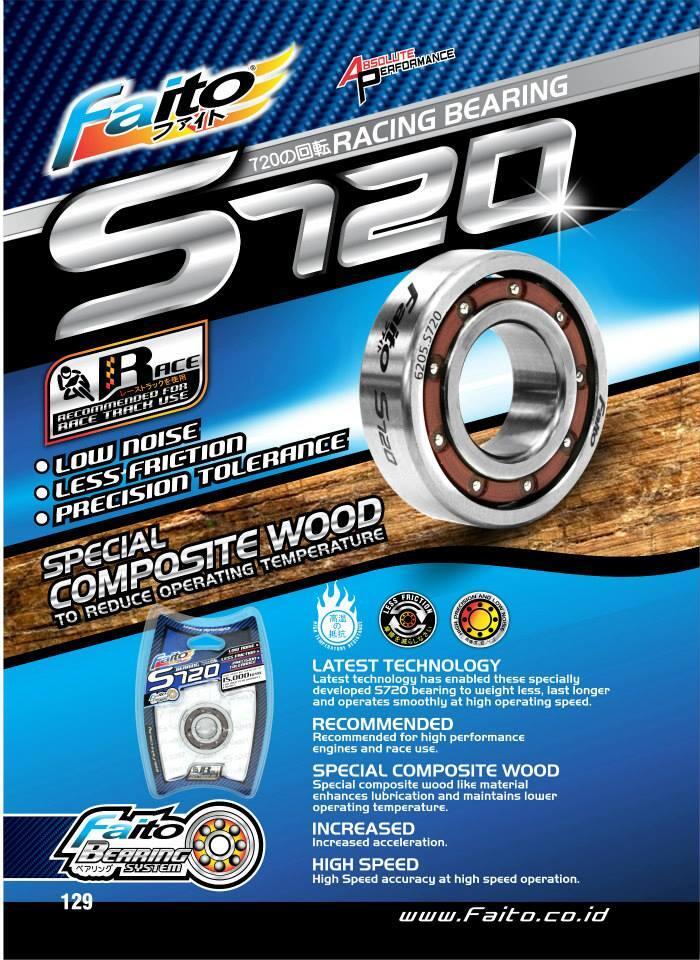 faito bearing. bearing/klaher/laher high speed faito s720 (bearing otomotif bukan industri) bearing e