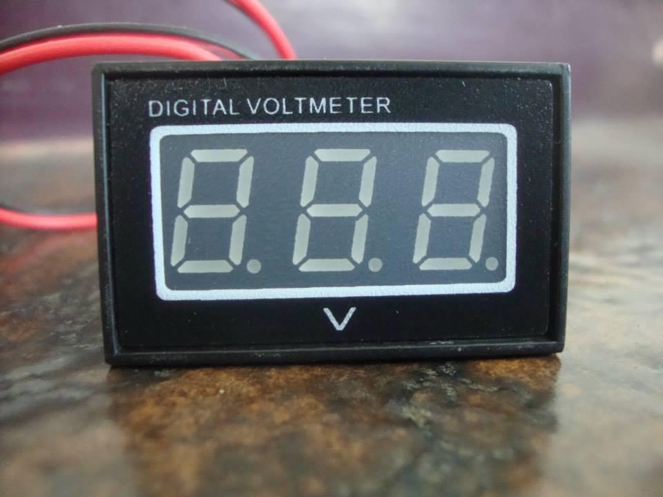 Digital MiNi VoltMeter DC 3.2V-30V BLUE LED Panel