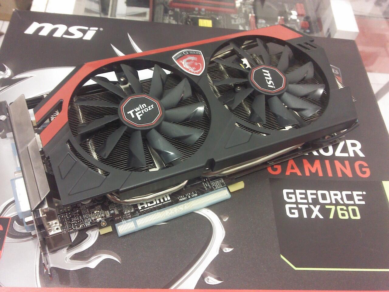 jual vga Card MSI GTX 760 TWIN FRORZ 2GB/DDR5 harga jos gandos - MALANG