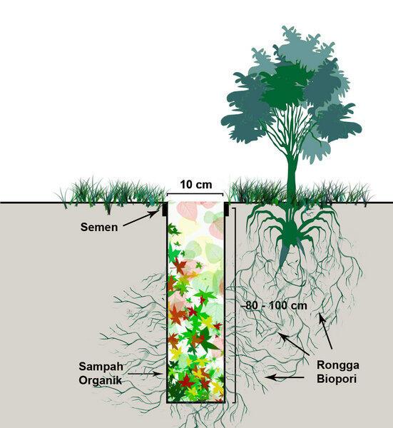 Jasa pembuatan Lubang Resapan Biopori dan Sumur Resapan