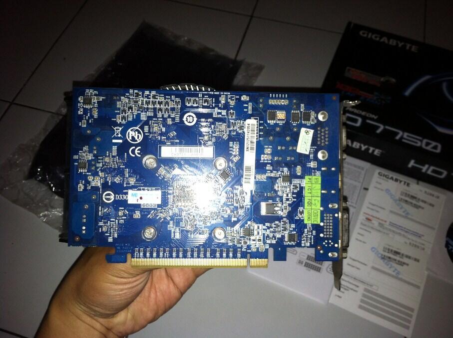 VGA Gigabyte HD7750 OC Edition. 1gb ddr5, kencang, hemat daya. Garansi Panjang.