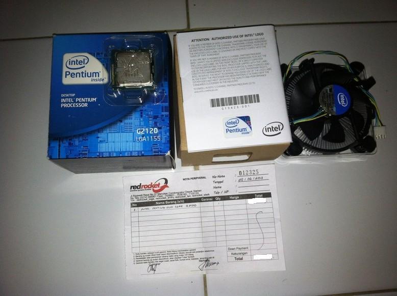 Sepaket, Procie Intel G2120 Ivy Bridge +ECS H77H2-M soket 1155. Garansi Pjg. Murah