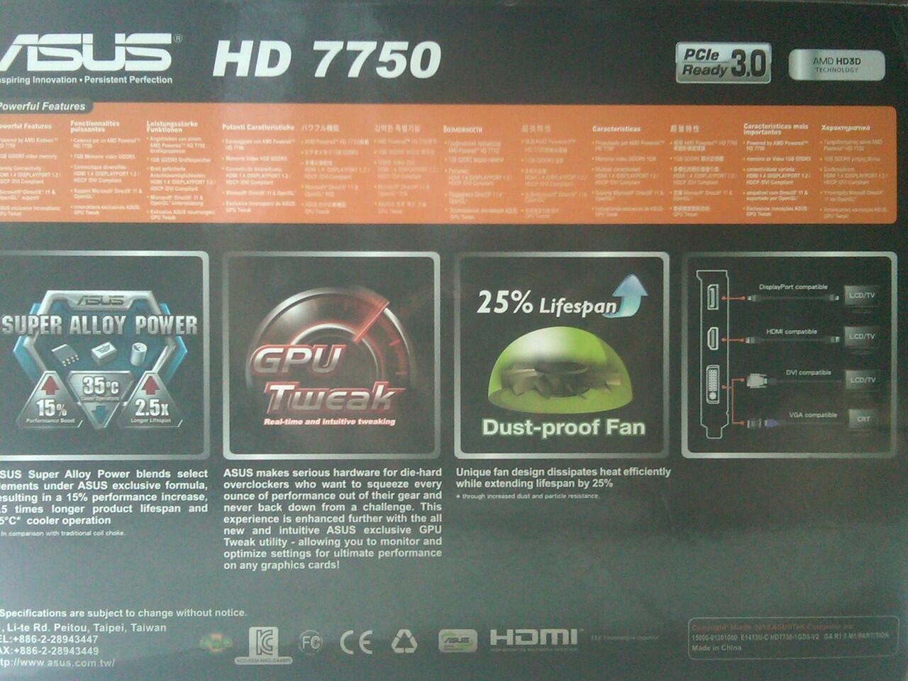 ASUS RADEON HD 7750-1GD5-V2