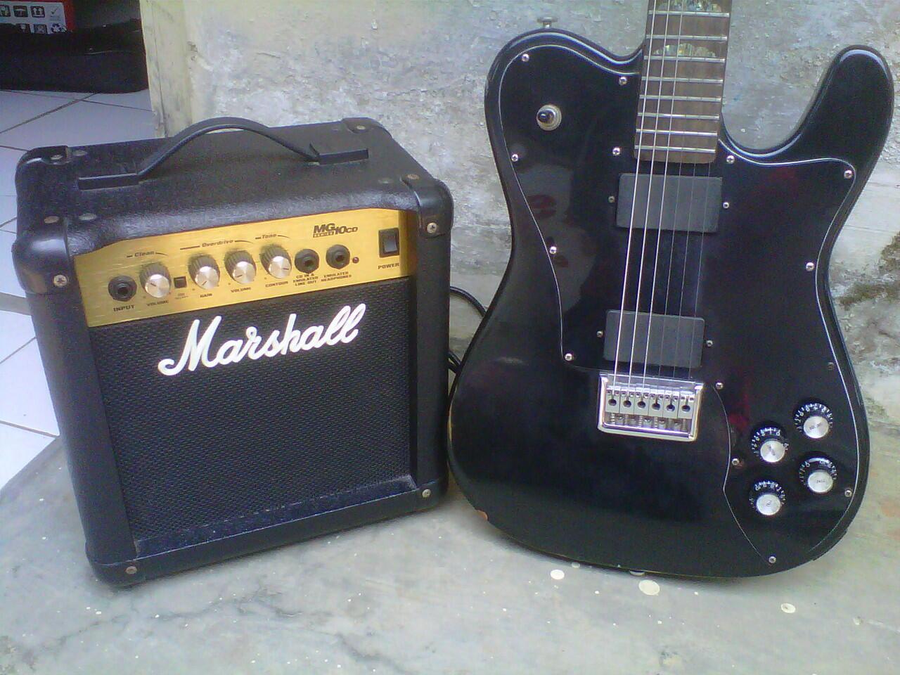 "jual guitar fender telecaster deluxe custom plus sound marshal 7"""