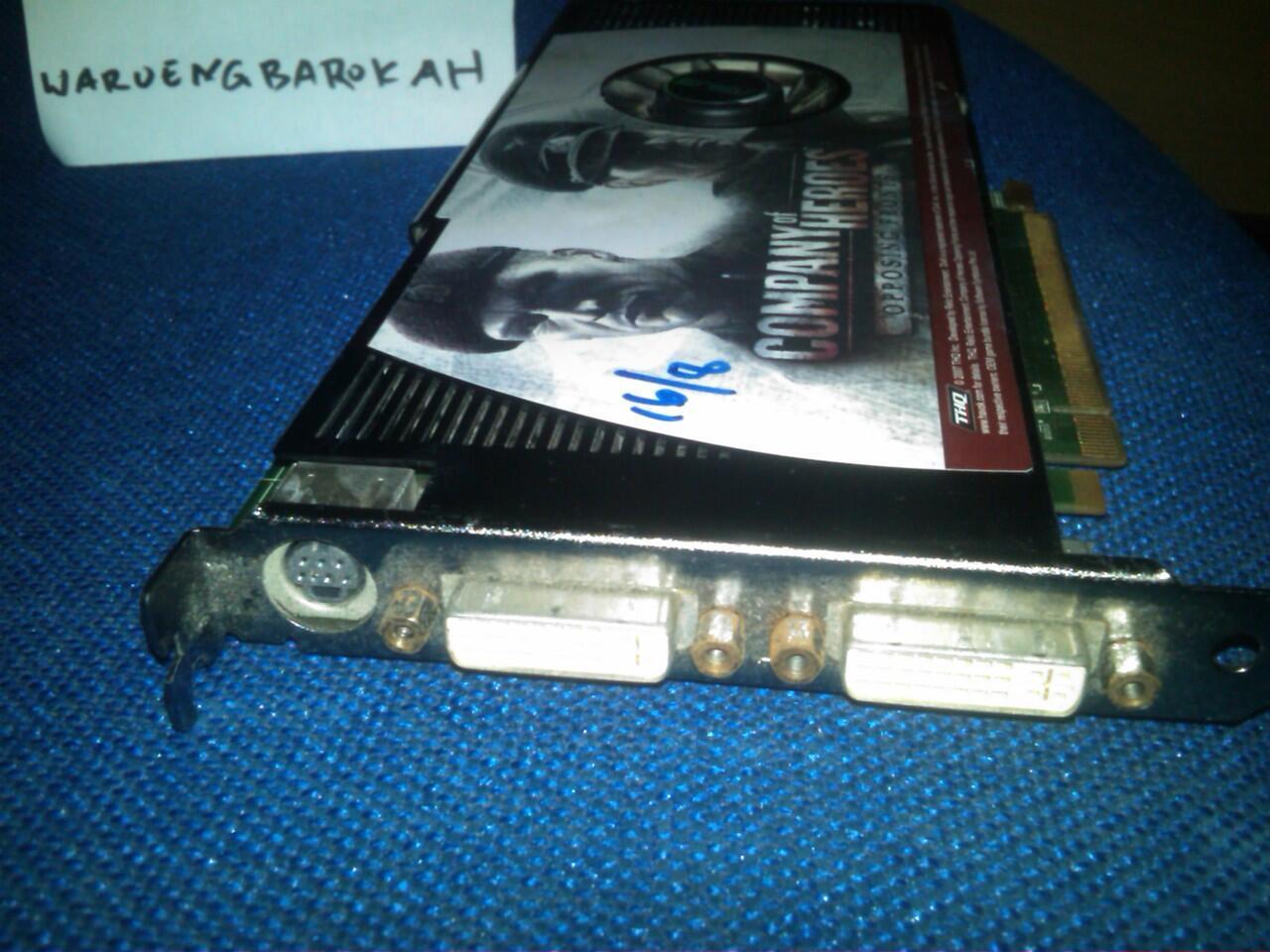 VGA PCIE Asus NVidia Geforce 8800GT TOP 512MB 256bit DDR3 Bandung
