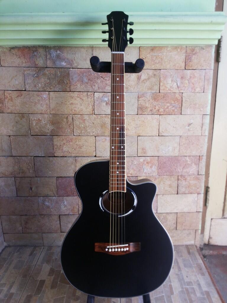 Gitar Akustik Elektrik APX Black Doff