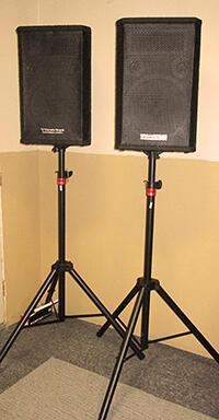 mixer, mic, speaker