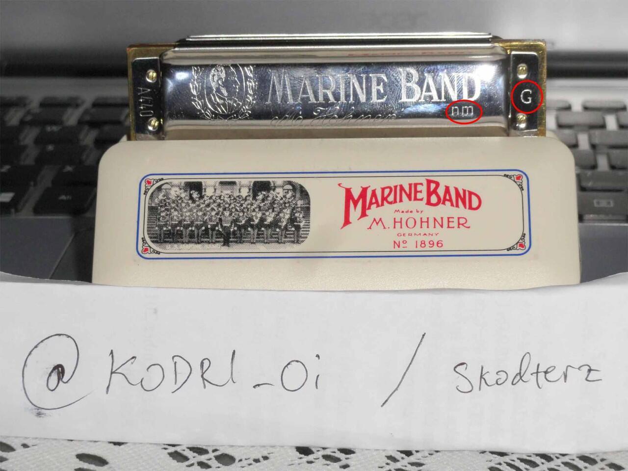 Jual Harmonica Hohner Marine Band Key G Nat. Minor >> 500K
