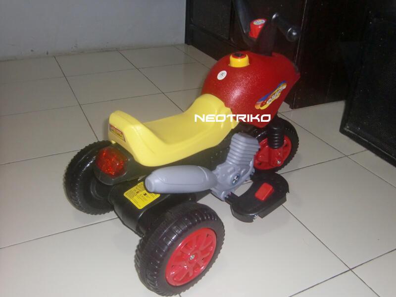 sepeda motor trail mainan anak pake baterai Aki kering