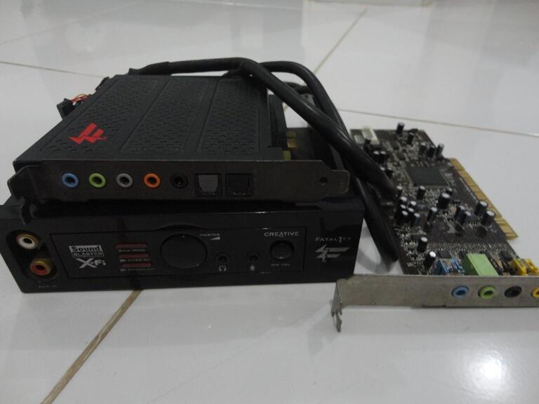 Xfi xtreme audio pcie & Xfi fatal1ty champion (rusak)