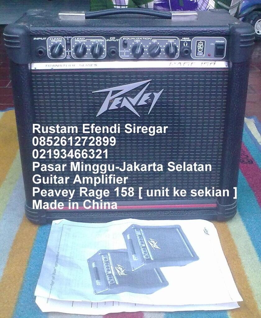 Guitar Amplifier Peavey Rage 158 [ unit ke sekian ]...