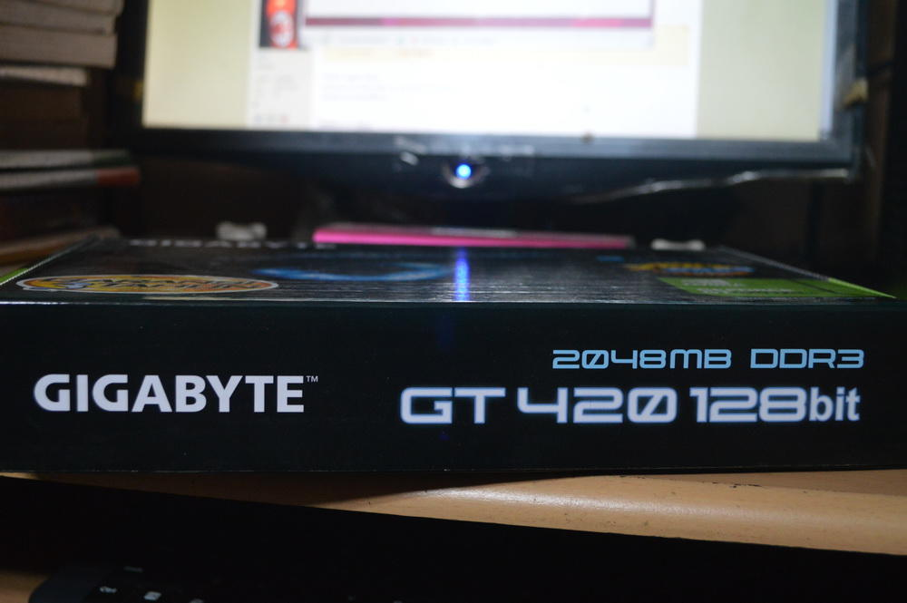 VGA GIGABYTE GT420 2GB DDR3 128BIT FULSET LIKE NEW