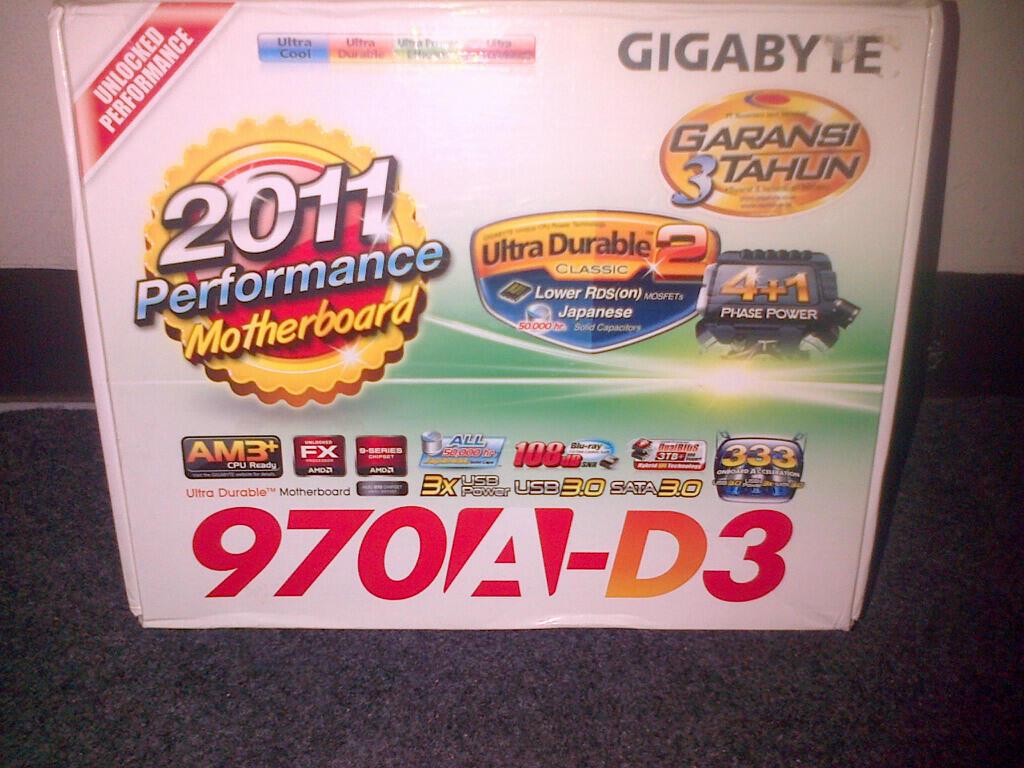 GIGABYTE 970A-D3 AM3+ (DEPOK UI) GARANSI SAMPAI OKTOBER 2014