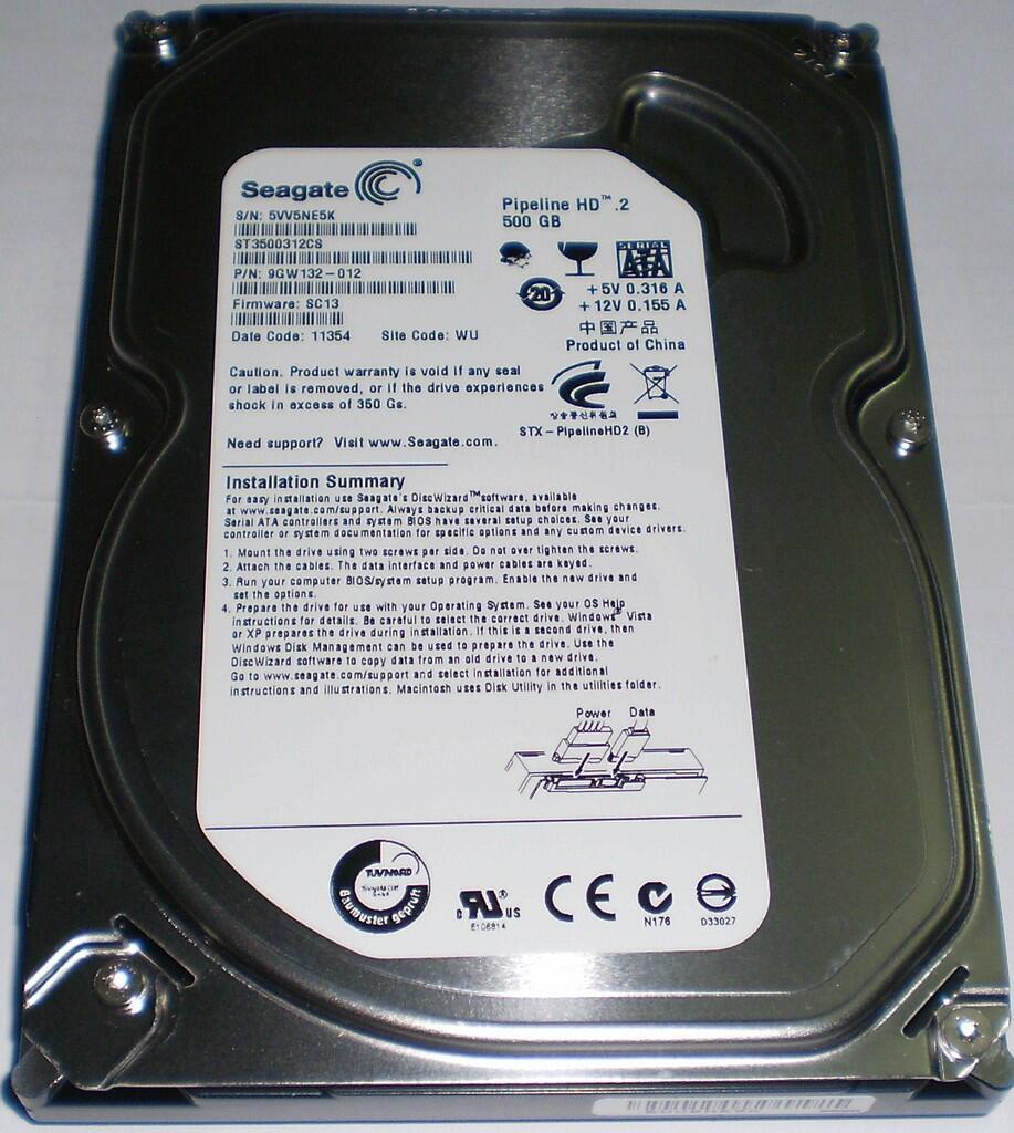 Jual SEAGATE Barracuda 500GB sata pc