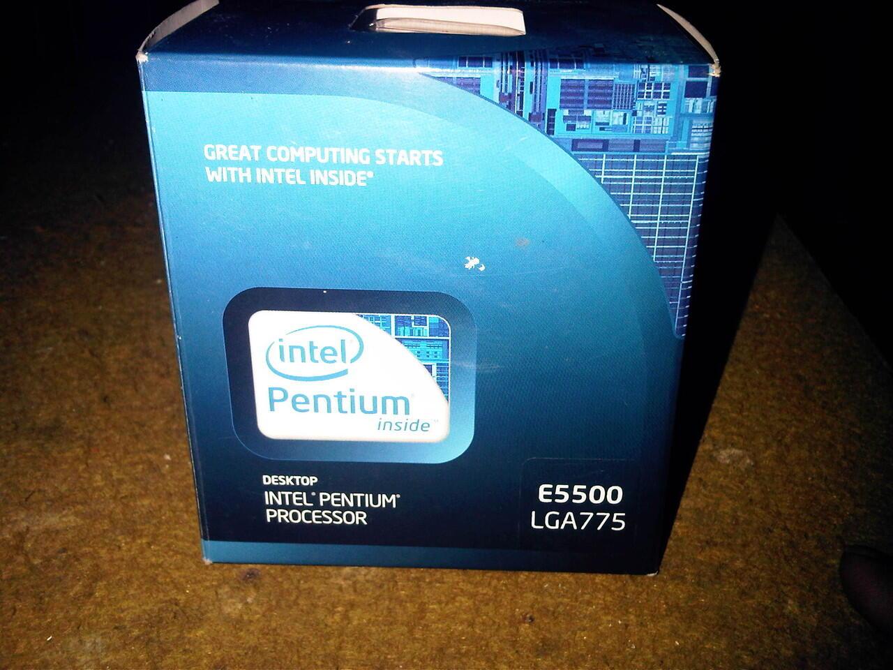 dijual prosesor intel Dual Core E5500 fullset JOGJA