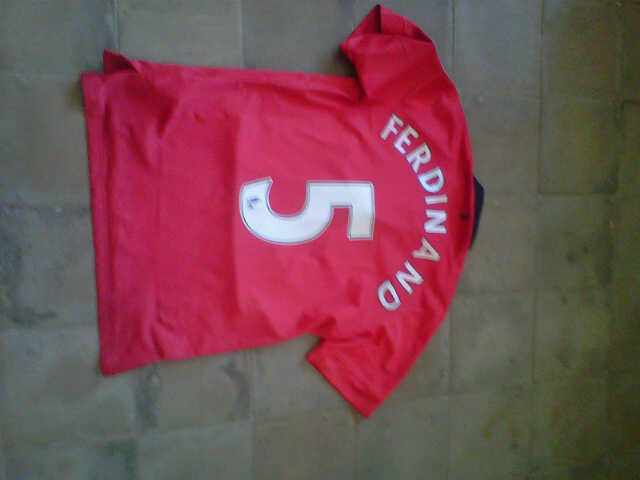 JERSEY MANCHESTER UNITED GO 13/14 FULL PATCH #5 FERDINAND MURRAAHHH!!! SOLO