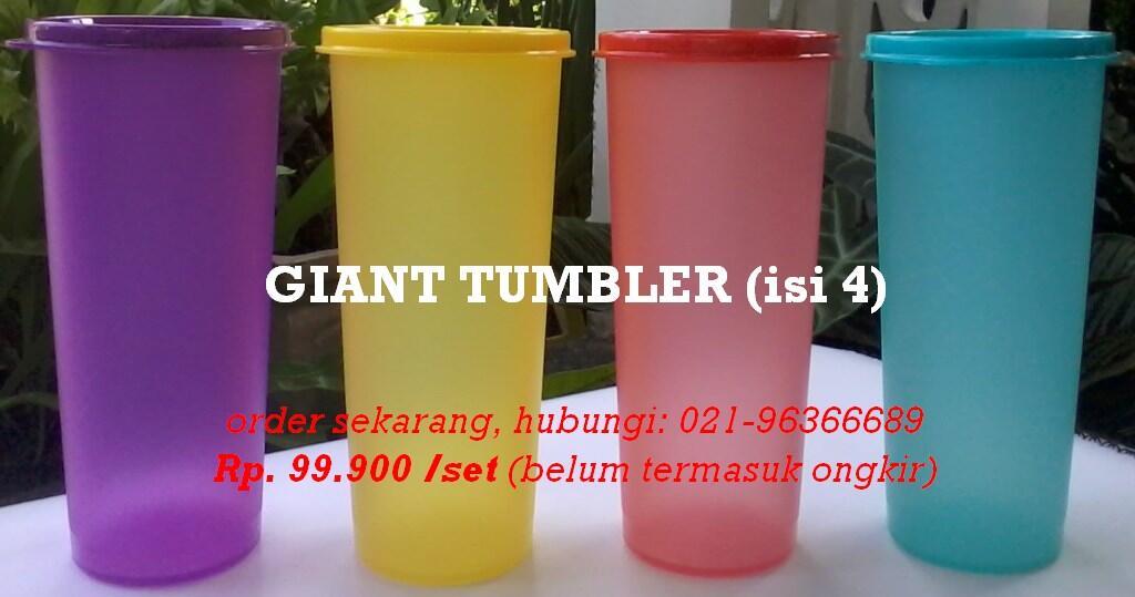 JUAL TUPPERWARE GIANT TUMBLER (isi 4 pcs) Rp. 99.900,- [WTS