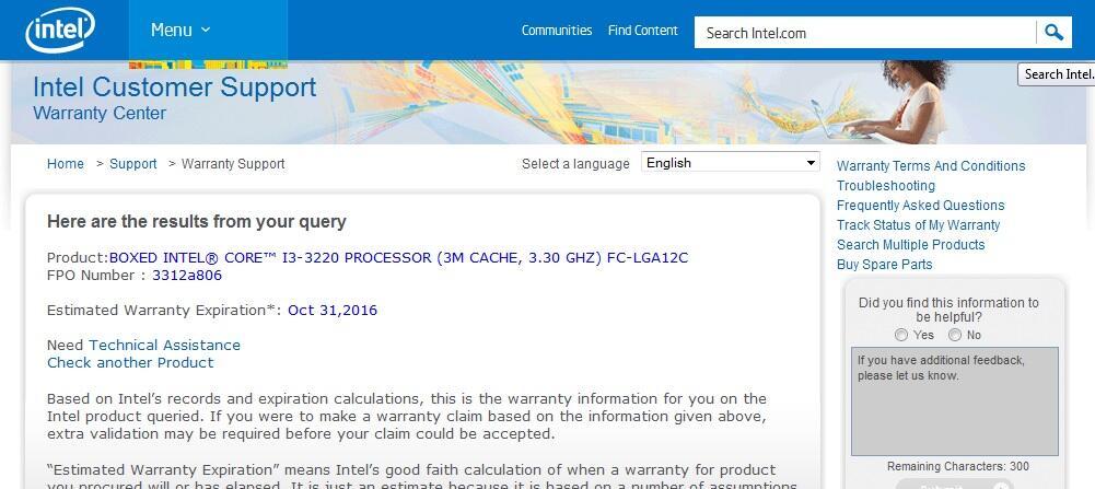 Intel® Core™ i3-3220 Processor (3M Cache, 3.30 GHz) Costa Rica