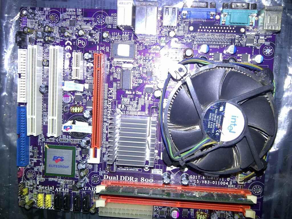Core 2 Duo E7300 + ECS G31T-M7 + Memory