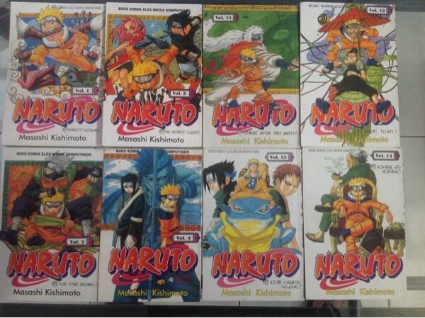 Komik naruto, one piece, yugioh, kungfu boy, hayate, digimon, midori's day etc